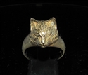 Picture of 21 x LOVELY BRONZE RINGS WITH A SMALL SLEEPING CAT HEAD WHOLESALE-LOT