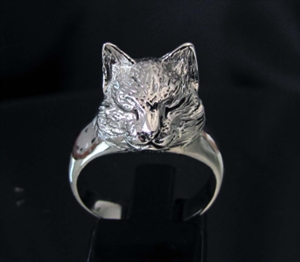 Picture of 21 x LOVELY STERLING SILVER RINGS WITH A SMALL SLEEPING CAT HEAD WHOLESALE-LOT