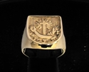Picture of 21 x BRONZE SEAL RINGS OF THE FRANCISCAN ORDER CORONA CROSS WHOLESALE-LOT