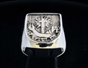 Picture of 21 x STERLING SILVER SEAL RINGS OF THE FRANCISCAN ORDER CORONA CROSS WHOLESALE-LOT