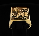 Picture of 21 x BRONZE SQUARE SIGNET RINGS WITH A SINGHALESE LION WHOLESALE-LOT
