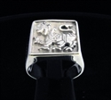 Picture of 21 x STERLING SILVER SQUARE SIGNET RINGS WITH A SINGHALESE LION WHOLESALE-LOT