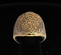 Picture of 21 x BRONZE RINGS WITH A CELTIC KNOT IRON CROSS WHOLESALE-LOT