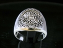 Picture of 21 x STERLING SILVER RINGS WITH A CELTIC KNOT IRON CROSS WHOLESALE-LOT