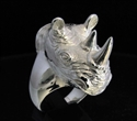 Picture of 21 x HUGE STERLING SILVER WILDLIFE ANIMAL RINGS RHINOCEROS WHOLESALE-LOT