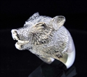 Picture of 21 x STERLING SILVER ANIMAL RINGS WITH A HOWLING WOLF WHOLESALE-LOT