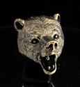 Picture of 21 x HUGE BRONZE ANIMAL RINGS ROARING GRIZZLY BEAR WHOLESALE-LOT