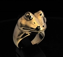 Picture of 21 x BRONZE REPTILE RINGS WITH THE HEAD OF A FROG WHOLESALE-LOT