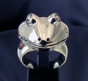Picture of 21 x STERLING SILVER REPTILE RINGS WITH THE HEAD OF A FROG WHOLESALE-LOT