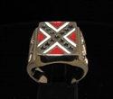 Picture of 21 x BRONZE REBEL RINGS WITH DIXIE FLAG SOUTH STATES CONFEDERATION WHOLESALE-LOT