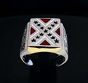 Picture of 21 x STERLING SILVER REBEL RINGS WITH DIXIE FLAG SOUTH STATES CONFEDERATION WHOLESALE-LOT
