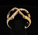 Picture of 21 x GREEK LETTER BRONZE RINGS INITIAL CHI SYMBOL WHOLESALE-LOT