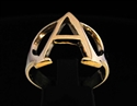 Picture of 21 x GREEK CAPITAL LETTER BRONZE RINGS INITIAL ALPHA SYMBOL WHOLESALE-LOT