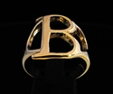 Picture of 21 x GREEK CAPITAL LETTER BRONZE RINGS INITIAL BETA SYMBOL WHOLESALE-LOT