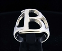 Picture of 21 x GREEK CAPITAL LETTER STERLING SILVER RINGS INITIAL BETA SYMBOL WHOLESALE-LOT