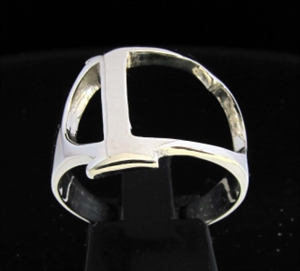 Picture of 21 x GREEK CAPITAL LETTER STERLING SILVER RINGS INITIAL GAMMA SYMBOL WHOLESALE-LOT