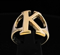 Picture of 21 x GREEK CAPITAL LETTER BRONZE RINGS INITIAL KAPPA SYMBOL WHOLESALE-LOT