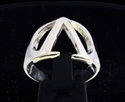 Picture of 21 x GREEK CAPITAL LETTER STERLING SILVER RINGS INITIAL LAMBDA SYMBOL WHOLESALE-LOT