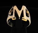 Picture of 21 x GREEK CAPITAL LETTER BRONZE RINGS INITIAL MU SYMBOL WHOLESALE-LOT