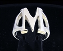Picture of 21 x GREEK CAPITAL LETTER STERLING SILVER RINGS INITIAL MU SYMBOL WHOLESALE-LOT