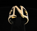 Picture of 21 x GREEK CAPITAL LETTER BRONZE RINGS INITIAL NU SYMBOL WHOLESALE-LOT