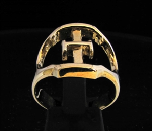 Picture of 21 x GREEK CAPITAL LETTER BRONZE RINGS INITIAL XI SYMBOL WHOLESALE-LOT