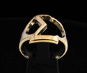 Picture of 21 x GREEK CAPITAL LETTER BRONZE RINGS INITIAL SIGMA SYMBOL WHOLESALE-LOT