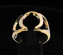 Picture of 21 x GREEK CAPITAL LETTER BRONZE RINGS INITIAL OMEGA SYMBOL WHOLESALE-LOT