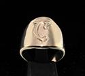 Picture of 21 x DAEDRIC ALPHABET LETTER BRONZE RINGS INITIAL AYEM SYMBOL WHOLESALE-LOT