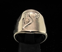 Picture of 21 x DAEDRIC ALPHABET LETTER BRONZE RINGS INITIAL BEDT SYMBOL WHOLESALE-LOT
