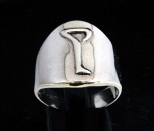Picture of 21 x DAEDRIC ALPHABET LETTER STERLING SILVER RINGS INITIAL LYR SYMBOL WHOLESALE-LOT