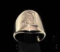 Picture of 21 x DAEDRIC ALPHABET LETTER BRONZE RINGS INITIAL YOODT SYMBOL WHOLESALE-LOT