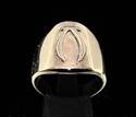Picture of 21 x DAEDRIC ALPHABET LETTER BRONZE RINGS INITIAL VEHK SYMBOL WHOLESALE-LOT