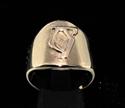 Picture of 21 x DAEDRIC ALPHABET LETTER BRONZE RINGS INITIAL WEB SYMBOL WHOLESALE-LOT