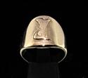 Picture of 21 x DAEDRIC ALPHABET LETTER BRONZE RINGS INITIAL YAHKEM SYMBOL WHOLESALE-LOT