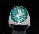 Picture of 21 x STERLING SILVER SIGNET RINGS G'DAY MATE BOXING KANGAROO SOUTH CROSS AUSTRALIA DARK GREEN WHOLESALE-LOT
