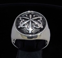 Picture of 21 x STERLING SILVER SIGNET RINGS UNITY ONE WORLD HUMAN CIRCLE HOLD THEIR HANDS WHOLESALE-LOT