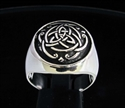 Picture of 21 x STERLING SILVER SIGNET RINGS CELTIC INFINITY KNOT TRISKELE WHOLESALE-LOT