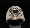 Picture of 21 x BRONZE RINGS WITH HEXAGRAM STAR OF DAVID SYMBOL BLACK WHOLESALE-LOT