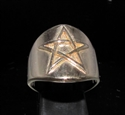 Picture of 21 x BRONZE RINGS WITH PENTAGRAM PENTACLE SYMBOL HIGH POLISHED WHOLESALE-LOT