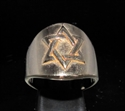 Picture of 21 x BRONZE RINGS WITH HEXAGRAM STAR OF DAVID SYMBOL HIGH POLISHED WHOLESALE-LOT