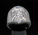 Picture of 21 x STERLING SILVER ZODIAC MEN'S RINGS STAR SIGN GEMINI HIGH POLISHED WHOLESALE-LOT