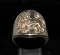 Picture of 21 x BRONZE ZODIAC MEN'S RINGS STAR SIGN LEO LION HIGH POLISHED WHOLESALE-LOT