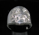 Picture of 21 x STERLING SILVER ZODIAC MEN'S RINGS STAR SIGN LEO LION HIGH POLISHED WHOLESALE-LOT