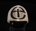 Picture of 21 x BRONZE CROSS RINGS WITH ANGLICAN ENGLISH CHURCH SYMBOL BLACK WHOLESALE-LOT