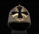 Picture of 21 x BRONZE MEN'S RINGS WITH CATHAR CROSS CATHARISM BLACK WHOLESALE-LOT