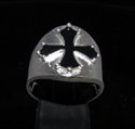 Picture of 21 x STERLING SILVER RINGS WITH CATHAR CROSS CATHARISM BLACK WHOLESALE-LOT
