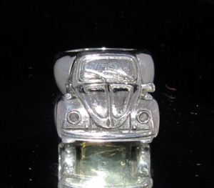 Picture of 21 x STERLING SILVER COLLECTOR'S RINGS WITH WITH A VOLKWAGEN VW BEATLE FRONT WHOLESALE-LOT