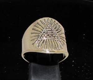 Picture of 21 x BRONZE MEN'S MASONIC RINGS ALL SEEING EYE ANTIQUED WHOLESALE-LOT