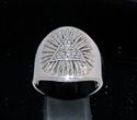 Picture of 21 x STERLING SILVER MEN'S MASONIC RINGS ALL SEEING EYE ANTIQUED WHOLESALE-LOT
